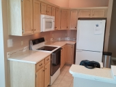 Before - Modern Cabinet Painting Project in Jacksonville Beach Completed
