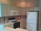 After - Modern Cabinet Painting Project in Jacksonville Beach Completed