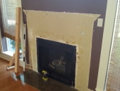 Jacksonville fireplace remodel job, before picture
