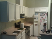 Completed Project: Custom Painted Kitchen Cabinets in Jacksonville