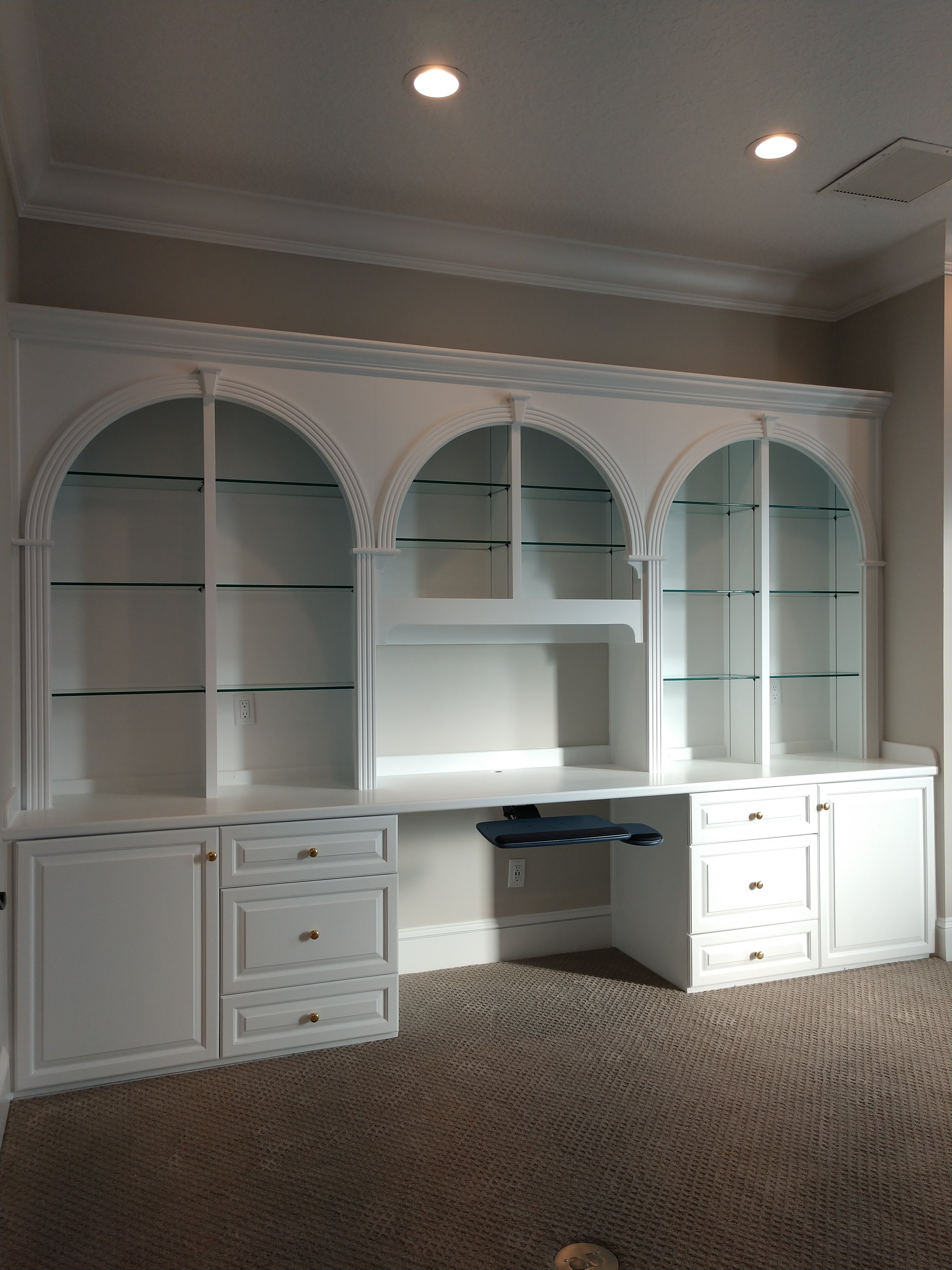 Desk And Built In Cabinet Painting In Deerwood