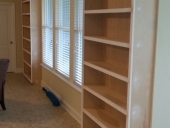 Jacksonville contractor completes custom built in bookshelves for Mandarin home