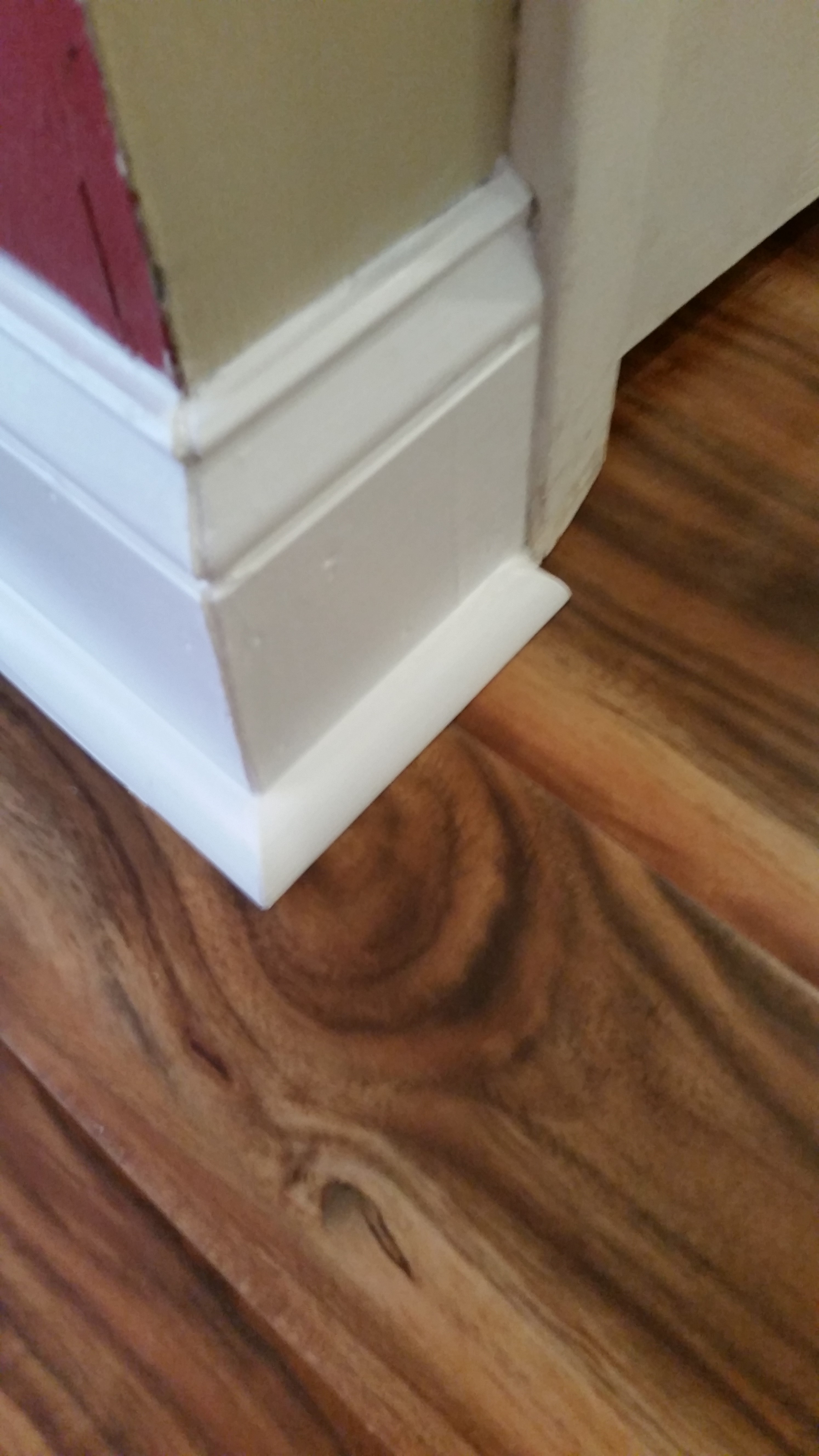 Laminate Quarter Round And Base Trim Restoration
