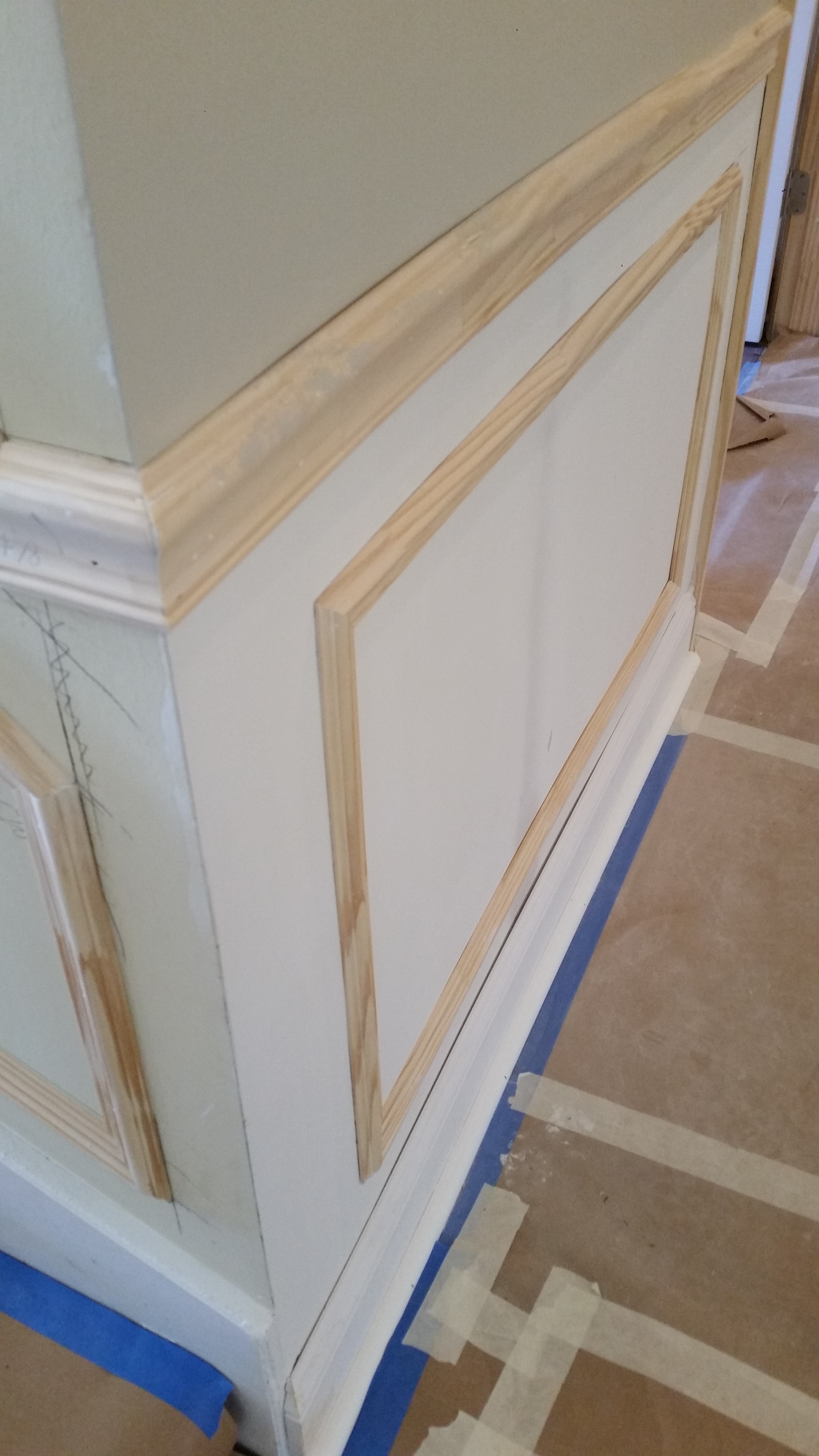 Wainscoting Faux Picture Frames And Chair Rail