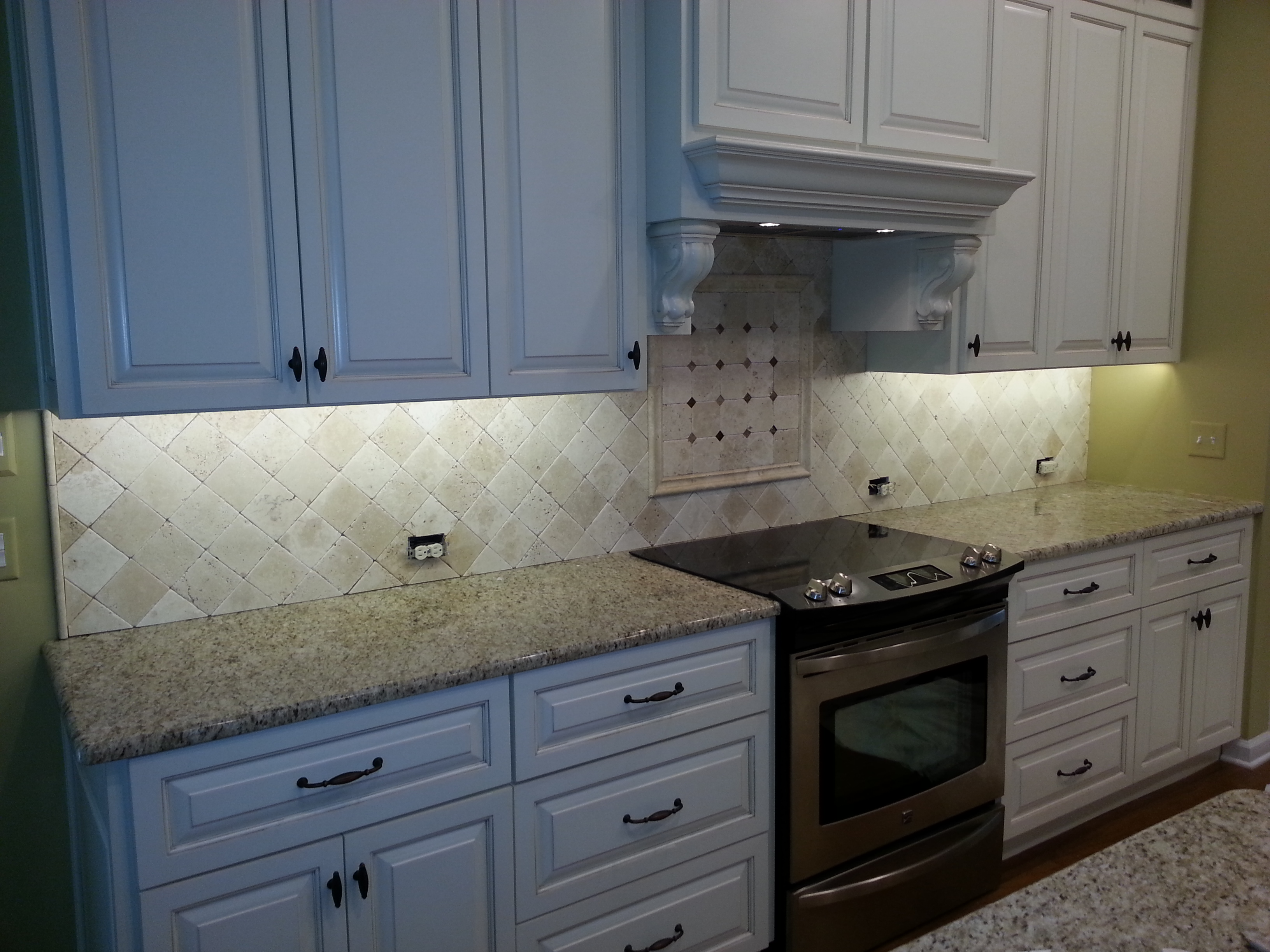 Wonderful AAA Completes Custom Kitchen Tile Backsplash Over Stove