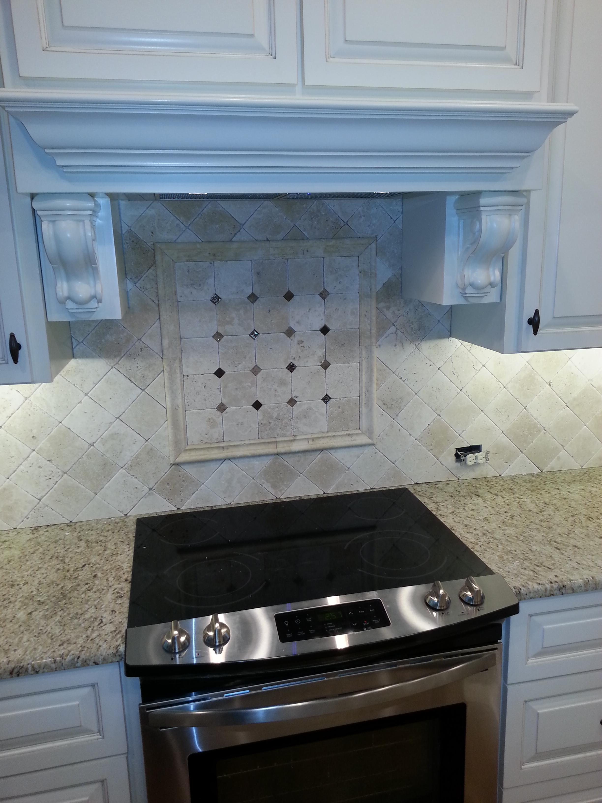 Beautiful AAA Completes Custom Kitchen Tile Backsplash Over Stove