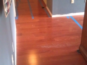 Engineered Hardwood, Laminate Flooring Job