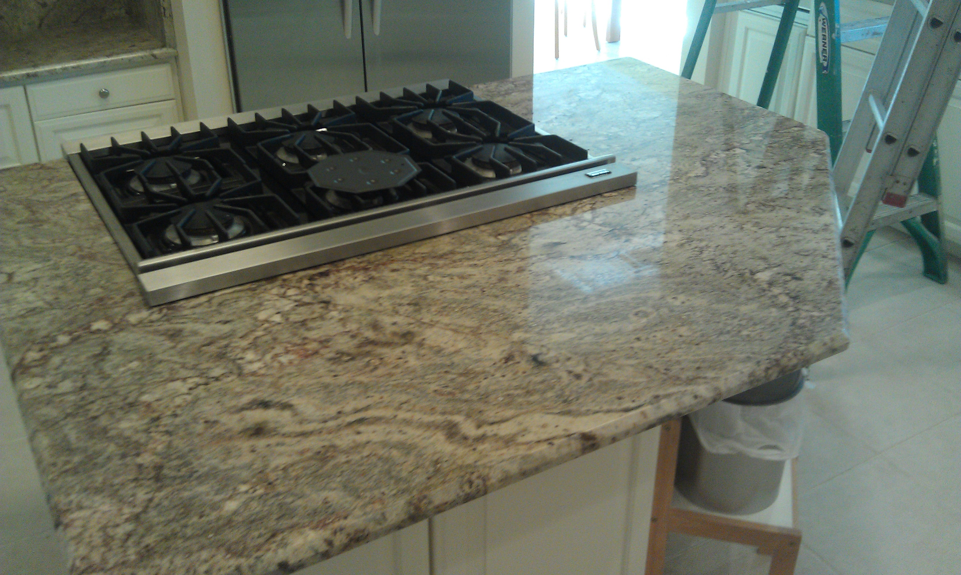 Exotic Granite Countertop Install In Jacksonville Home. Windsor Chase  Travertine Project
