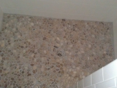 Travertine Flooring Replacement in Bathroom