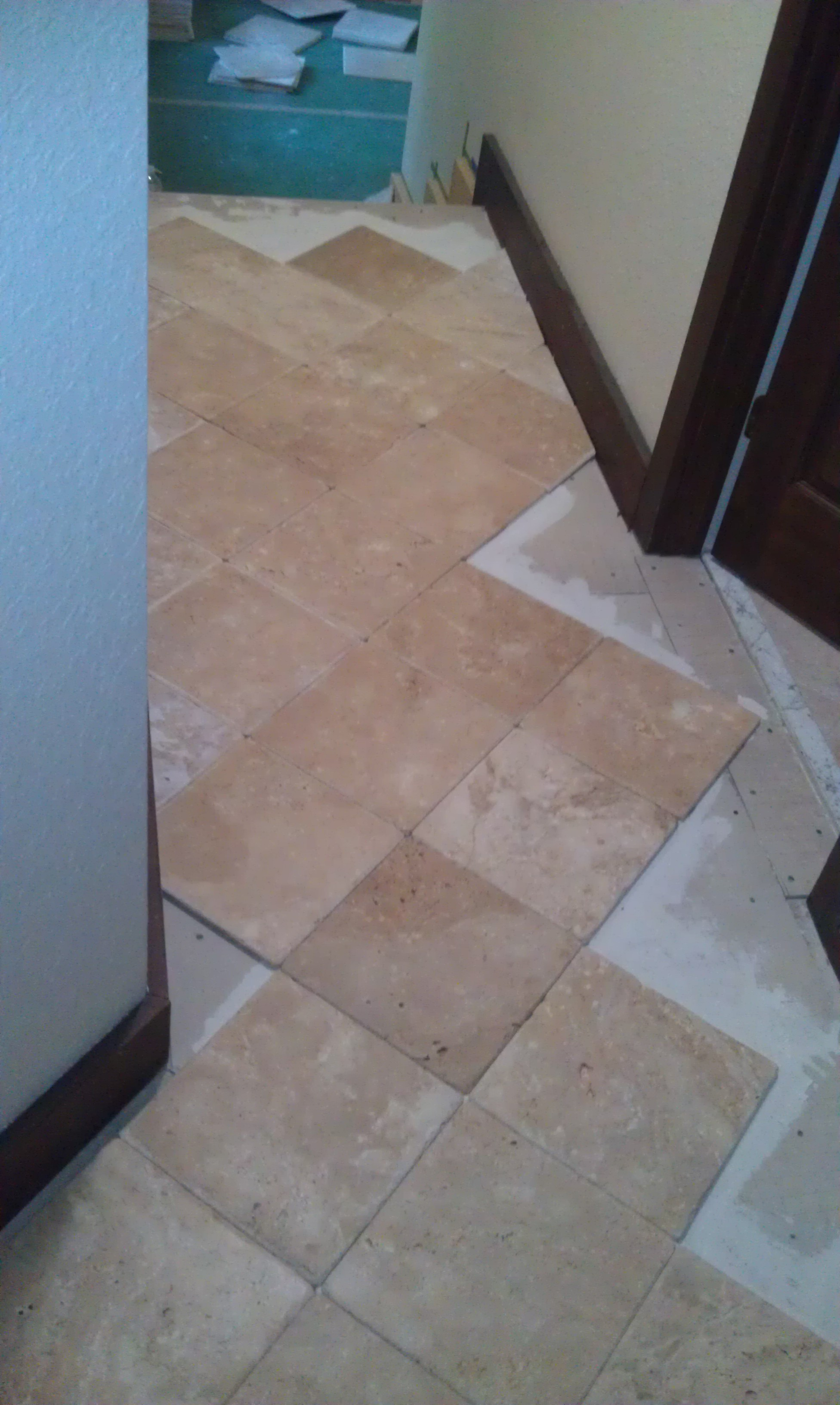elegant kitchen floor versailles palatial and stone travertine of flooring chiesled edge pattern