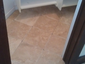 Deerwood Travertine Flooring Install
