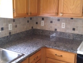 Orange Park Tile Backsplash Job