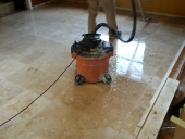 Travertine Floor Tile Installer in Jackonsonville Completes Floor Install