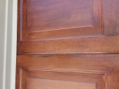 Custom Job: Wood Grain on Metal Garage Door